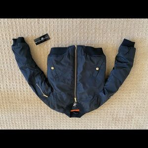 NWT girls Beverly Hills Polo bomber jacket 7/8